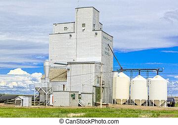 Richlea Grain Elevator - The grain elevator in the small...