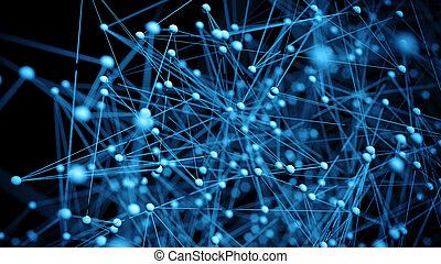Abstract network molecule background