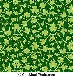 St Patrick day seamless pattern