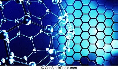 Blue molecules in motion - Molecules in motion Science and...
