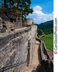 Rock castle - Sloup v Cechach, ancient rock castle, Czech...