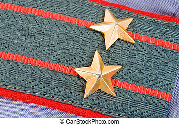 Shoulder strap of  lieutenant colonel of russian police