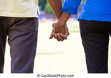 commitment - Closeup portrait of a young couple with...