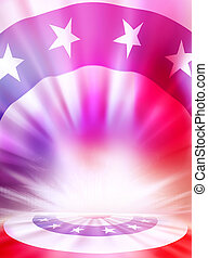 American Flag Background - USA stars and stripes flag...