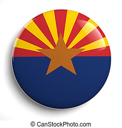 Arizona flag - Arizona state flag isolated icon.