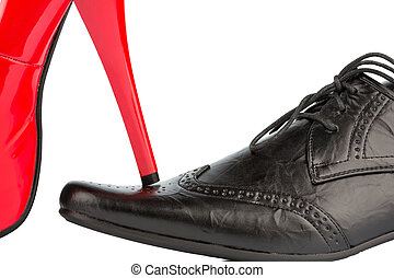 high heels and mens shoe - womens shoes on mens shoe,...