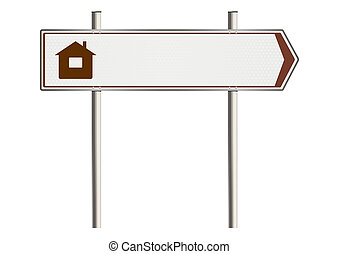 Home insurance - Home Insurance Road sign on a white...