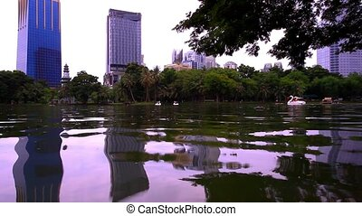 Bangkok city view. Public Garden