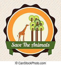 save the animals design - save the animals design, vector...
