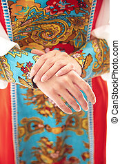 Russian national costume - Woman in Russian national costume...