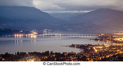 Overlooking Kelowna, Scenic Mountaintop View