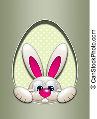 easter bunny hidden in egg hollow - easter bunny in egg...