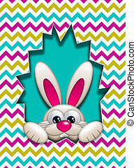 easter bunny hidden in zigzag egg hollow - easter bunny in...
