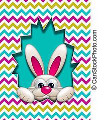 easter bunny hidden in zigzag egg hollow - easter bunny in...