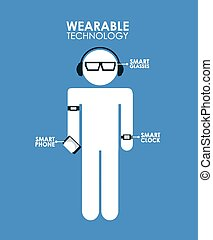 wearable technology design, vector illustration eps10...