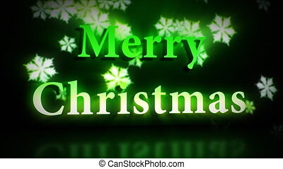 Merry Christmas animation in green colours