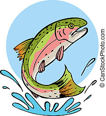 rainbow trout vector illustration image scalable to any...