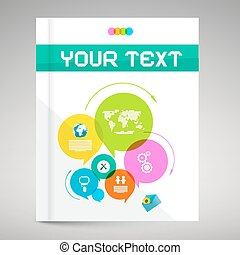 Modern Paper Brochure and Book Layout Cover - Colorful...
