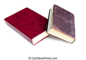 books on a white background - books, two books, two books on...