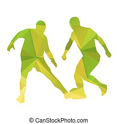 Abstract vector football players