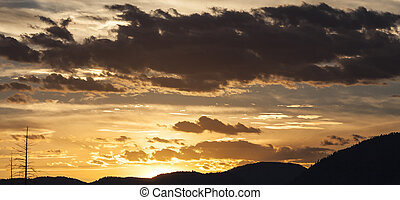 Clouds at Sunset over the Mountains