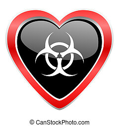 biohazard icon virus sign
