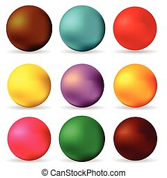 spheres - colorful illustration with spheres on white...