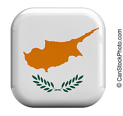 Cyprus flag isolated symbol icon.