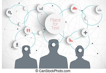 Brainstorm - Vector concept of brainstorm with icons. Eps10...