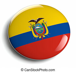 Ecuador flag design round badge.