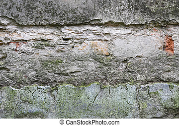 Old damaged and weathered wall texture