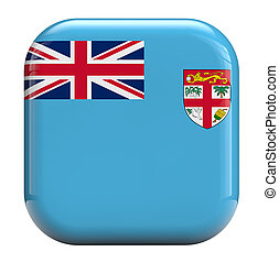Fiji flag icon image - Fiji flag square icon image isolated...