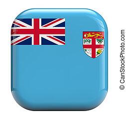 Fiji flag icon image - Fiji flag square icon image isolated...
