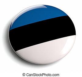 Estonia flag design round badge.