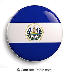 El Salvador flag icon. Clipping path included.