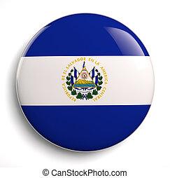 El Salvador flag icon. Clipping path included.