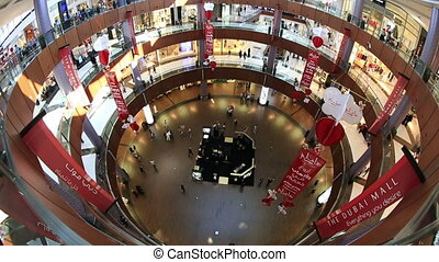 time lapse The Dubai Mall - time lapse people shopping in...