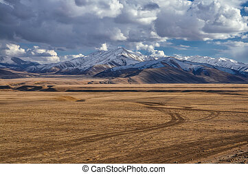 Afghan mountains - Panoramic view of Afghan mountains hidden...