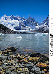 Los Glaciares National Park - Scenic view of rocky shore in...