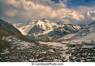 Rocky valley in Tajikistan - Scenic rocky valley in Pamir...