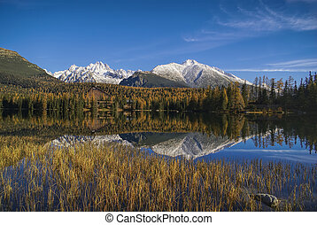 Strbske pleso - Picturesque view of High Tatras in Slovakia...