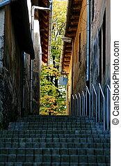 Upstairs at city Ruzomberok, Slovakia