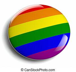 Gay Pride - Gay pride design icon isolated.