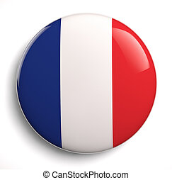France flag - French flag icon on white. Clipping path...
