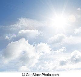 Clouds - Bright sun in fluffy clouds
