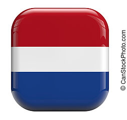 Holland Dutch flag isolated icon.