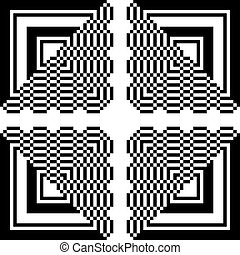 square to triangle abstract pattern 2