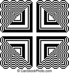square to triangle abstract pattern