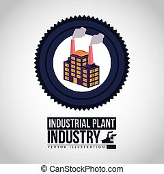 Industry design, vector illustration.