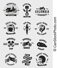 Badges Motorcycle Collections - 12 collections vintage...